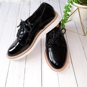 A New Day Black Patent Platform Oxford Shoes